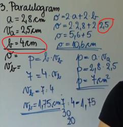 Vaje-paralelogram, napaka